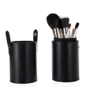 FiveBull 13 Pcs Professional Makeup Brush Set Foundation Cosmetic Brushes Kit with Cylindrical Cup Holder Leather Case