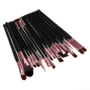 Sandistore 20PCS Cosmetic Makeup Brush Lip Makeup Brush Eyeshadow Brush