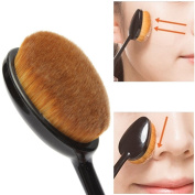 Beety. Oval Cosmetic Makeup Face Cream Powder Blush Makeup Tool Powder Blusher Toothbrush Curve Foundation Brush