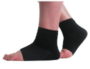Gel Heel Socks for Dry Cracked Skin Moisturising Socks (Large Men (7-12))