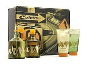 Curve By Liz Claiborne For Men. Gift Set ( Cologne Spray 120ml + Aftershave 120ml + Skin Soother 70ml + Hair & Body Wash 70ml).