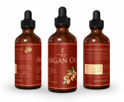 ARGAN OIL Large 120ml Dark Glass Bottle. Pure Moroccan Organic Argan Oil Imported from Morocco for Hair Treatment, Nails and Face by FC. USDA Argan Oil. 100% Cold Pressed Oil . Great Benefits to your Hair and Skin. 100. . Protects t ..