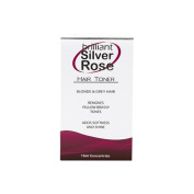 Brilliant Silver ROSE Hair Toner Blonde & Grey Hair It Works Like Magic 15 Ml Bottle