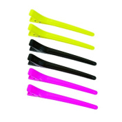colour trak Duckbill Clips, Pink/Black/Yellow, 6 Count