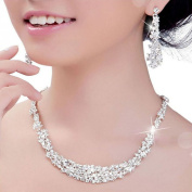 Lookatool Crystal Bridal Jewellery Sets Hotsale Necklace and Earrings Jewellery Wedding