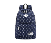 . New Arrival Polka Dot Canvas Rucksack Casual Daypack Backpack Laptop Backpack College Bookbag Book Tote Bag for Teens Students School Bags for Girl and Boy Love