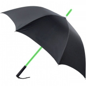 RainWorthy Black 120cm LED Shaft Umbrella