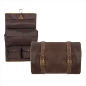 Canyon Outback Leather CS500-44 Buffalo Mountain Hanging Leather Toiletry Bag Distressed Brown