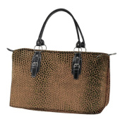 Joann Marrie Designs LTTSNK2 Large Travel Tote Bag -Brown Snake Pack of 2