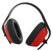 Zenport EM101-10PK Standard Ear Muffs Red Black Box of 10