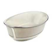 Lenox Ivory Frost Platinum Banded Ivory China Open Vegetable Bowl
