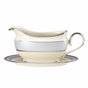 Lenox Blue Frost Sauce Boat and Stand, Ivory