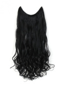 OneDor® 50cm /60cm Curly/straight Synthetic Hair extensions-Transparent wire/No clips