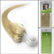 Straight 60cm Remy Loops Micro Rings Beads Tipped Human Hair Extensions 100s for Women Beauty Style