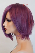 Epic Cosplay Aphrodite Plum Purple Layered Short Cosplay Wig 38cm