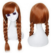 Xcoser Pretty Party Anna Wig Hair Tails Hair Style for Cosplay Accessories