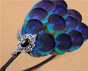 Natural Peacock Feather Fascinator Wedding Hair Clip