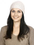 Simplicity Crochet Bead Hairband Knit Headband Ear Warmer Head Wrap, Beige