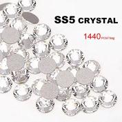 Perfect Summer 1440pcs DIY Nail Art Designs Sets Mix-sizes Clear Crystal Rhinestones Flatback Gems Diamond Decorations 1.8mm