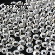 Perfect Summer 1440pcs DIY Nail Art Designs Sets Mix-sizes Clear Crystal Rhinestones Flatback Gems Diamond Decorations 5mm