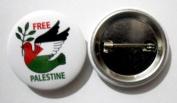 Free Palestine Protest Button Lapel Pin Flag New Multicolor Tin Plate Badge Emblem 3 Cm Diameter