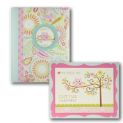 C.R. Gibson First Year Calendar + C.R. Gibson Memory Book, Happi Baby Girl Bundle