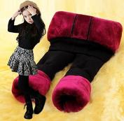 New Winter Cotton-added Children Girl Leggings 3-layer Warm Pants Children Thicken Velvet Trousers Boots Pants