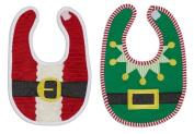 DII Christmas Santa & Elf Baby Bib Gift Set