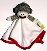 Sock Monkey Snuggle Buddy ~ Red