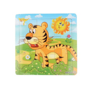 Yoyorule 15cm x 15cm Wooden Jigsaw Toys Kids Education And Learning Puzzles Toys