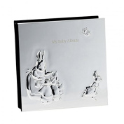 Silver Baby Photo Album By Peter Rabbit