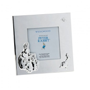 Silver Baby Photo Frame 3.5 X 3.5 By Peter Rabbit