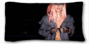 Custom Cotton & Polyester Soft ( Lady GaGa ) Soft Pillow Case Cover 20*90cm (One Sides)Zippered Pillowcase suitable for X-Long Twin-bed