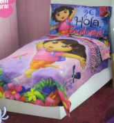 Nickelodeon Dora the Explorer - Hola Explorer 4 Pc Toddler Bedding