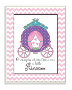 The Kids Room by Stupell Once upon a Time There was a Little Princess with Carriage Rectangle Wall Plaque
