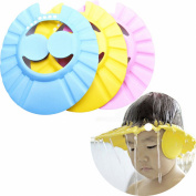Cren® 3pcs Safe Shampoo Shower Bathing Protect Soft Cap Hat for Baby Children Kids