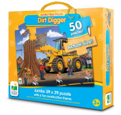 The Learning Journey Jumbo Floor Puzzles - Dirt Digger Floor Puzzle, Multi