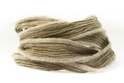 Taupe Handmade Silk Ribbon