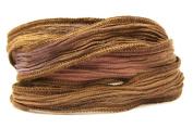 Cafe Mocha Handmade Silk Ribbon - Four Shades of Brown Blended