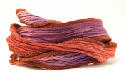 Purple Coral Handmade Silk Ribbon