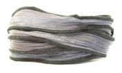 Monsoon Handmade Silk Ribbon - Blue Grey-blue and Grey