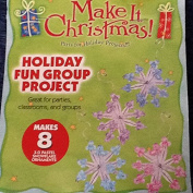 2007 Toner Plastics Christmas 3-D Pastel Ornaments Group Project - Makes 8