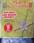 2007 Toner Plastics Christmas Icy Blue Snowflake Ornaments Group Project - Makes 9