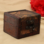 Retro Printed Wooden Jewellery Storage Box Vintage Container Case by 24/7 store