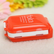 Orange Portable Foldable Medicine Cosmetic Earring Container Storage Pill Box Case by 24/7 store