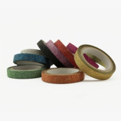 Valley Mall Assorted Colours Glitter Tape Scrapbooking DIY Skinny Thin Washi Tape 6mm