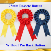 "Asc365 50sets 3"" Paper Back Rosette Without Pin Badge Button Supplies Maker 75mm"
