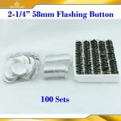 "2-1/4"" 58mm 100sets Flashing Shine Light Badge Button Parts for Maker Machine"