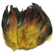 KING DO WAY 100pcs Fluffy Fashion Rooster Feather Fringe Decoration Home Craft DIY 15cm - 20cm US yellow