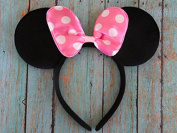 12 Pc_ Pink Bow Minnie Mouse or Mickey or Mix_for Dress up Minnie Mouse Theme Birthday, Mickey Mouse Party